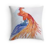 Fiery Plumage Throw Pillow