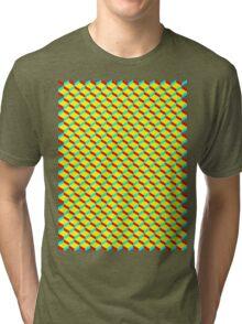 3D Boxes Tri-blend T-Shirt