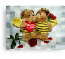 Lets be Valentines Canvas Print