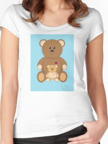 TWO TEDDY BEARS #2 Women's Fitted Scoop T-Shirt