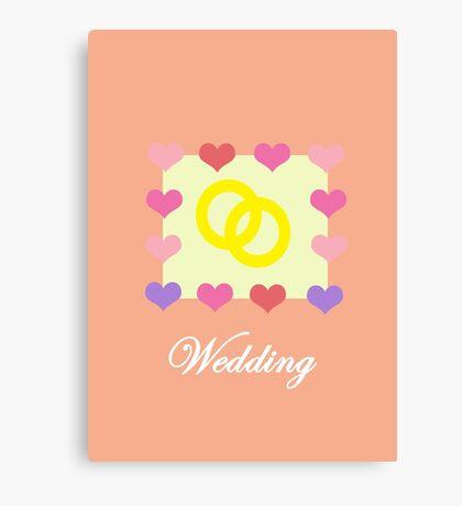 Wedding Card Canvas Print