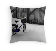 Nice Day for A Bike Ride Throw Pillow
