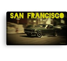 San Francisco & Muscle Cars Canvas Print