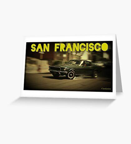 San Francisco & Muscle Cars Greeting Card