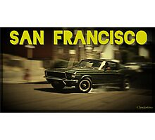 San Francisco & Muscle Cars Photographic Print