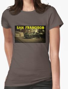 San Francisco & Muscle Cars Womens Fitted T-Shirt