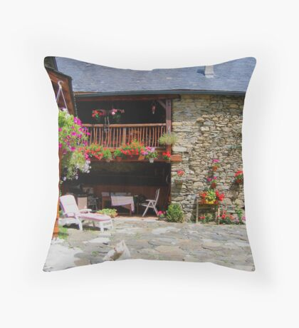 Pretty farm Throw Pillow