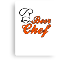 Beer Chef Canvas Print