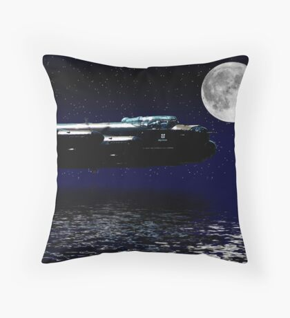 A Bombers Moon Throw Pillow