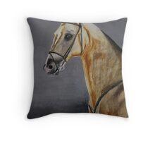 Sengar Akhal-Teke stallion watercolour Throw Pillow