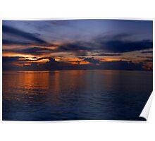 Maldivian Sunset Poster
