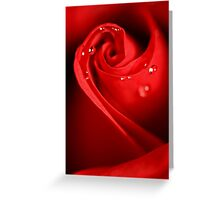 Red Swirl Greeting Card