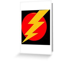Lightning Bolt Greeting Card