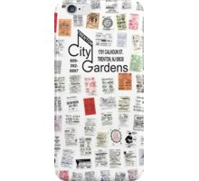 City Gardens Punk Card Print version 2.0 iPhone Case/Skin