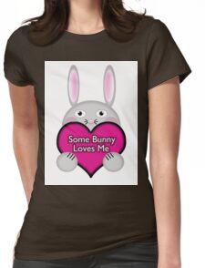 Cute Some Bunny Loves Me Heart Womens Fitted T-Shirt