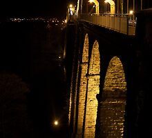 Menai Bridge by Night by Craig Beal
