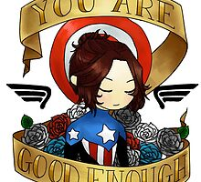 bucky says believe in yourself by rhonnnnie