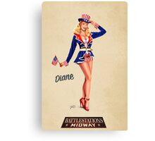 Battlestation Midway, Diane Canvas Print