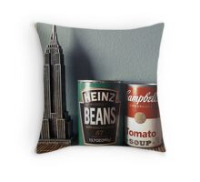 Souvenirs from America - Kodachrome postcard Throw Pillow