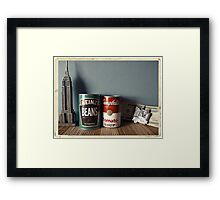 Souvenirs from America - Kodachrome postcard Framed Print