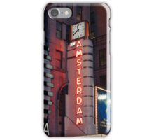 Amsterdam Theater in Times Square at night - Kodachrome Postcards iPhone Case/Skin