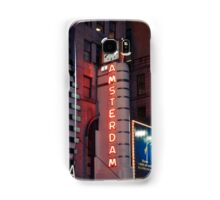 Amsterdam Theater in Times Square at night - Kodachrome Postcards Samsung Galaxy Case/Skin