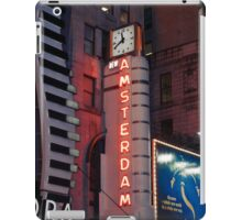 Amsterdam Theater in Times Square at night - Kodachrome Postcards iPad Case/Skin