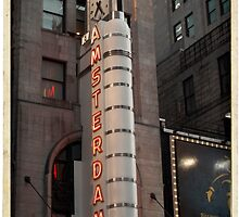 Amsterdam Theater in Times Square- Kodachrome Postcards by Reinvention