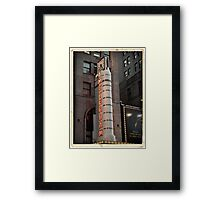 Amsterdam Theater in Times Square- Kodachrome Postcards Framed Print