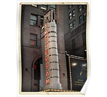 Amsterdam Theater in Times Square- Kodachrome Postcards Poster