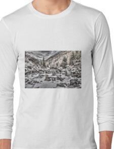 Snowy mountains cape Long Sleeve T-Shirt