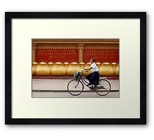Bicycling - Siem Reap - Cambodia Framed Print