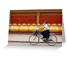 Bicycling - Siem Reap - Cambodia Greeting Card