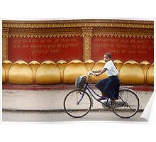 Bicycling - Siem Reap - Cambodia Poster