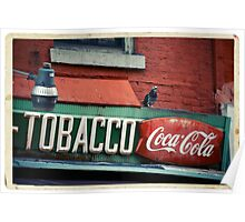 Tobacco - Coca Cola Sign in the West Village - Kodachrome Postcard  Poster