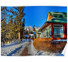 Mountain Retreat  Jasper National Park Poster