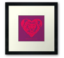 Love Lions - Protect What You Love Framed Print