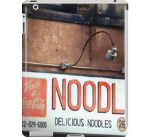 Noodle Bar in the East Village - Kodachrome Postcard iPad Case/Skin