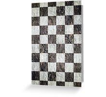 Vintage chess - grunge Greeting Card