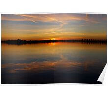 Sunset Reflections Poster