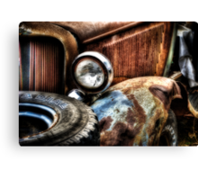 """""""The Front Fender""""  Rotting away series.. Canvas Print"""