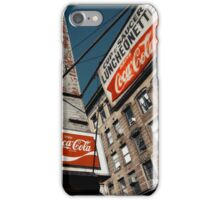 Luncheonette in the Lower East Side - Kodachrome Postcard iPhone Case/Skin