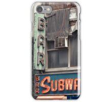 Subway Inn Bar neon sign in Manhattan, NYC - Kodachrome Postcards iPhone Case/Skin