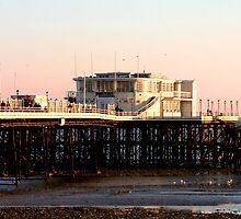 Worthing Pier Pink Sunset by Greg Roberts