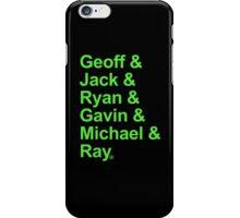 Geoff & Jack & Ryan & Gavin & Michael & Ray - Green Edition iPhone Case/Skin