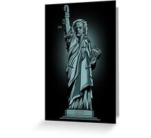 Statue of Time Greeting Card