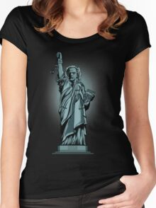 Statue of Time Women's Fitted Scoop T-Shirt