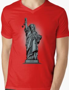 Statue of Time Mens V-Neck T-Shirt