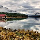 Maligne Lake Boat House by Amanda White