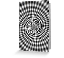 Awesome dots spiral optical illusion Greeting Card